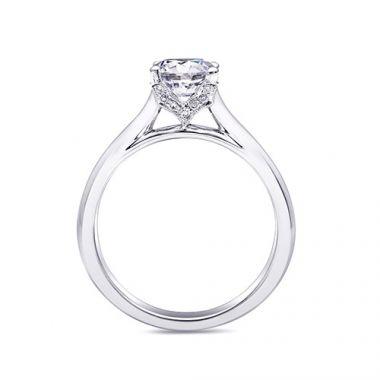 14k White Gold Coast Diamond 0.06ct Diamond Semi-Mount Engagement Ring
