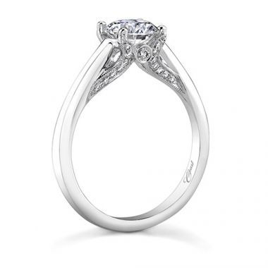 14k White Gold Coast Diamond 0.15ct Diamond Semi-Mount Engagement Ring
