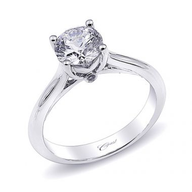 14k White Gold Coast Diamond 0.2ct Diamond Semi-Mount Engagement Ring With Milgrain Details