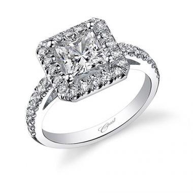 14k White Gold Coast Diamond 42ct Diamond Semi-Mount Fishtail Engagement Ring