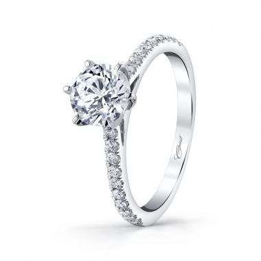14k White Gold Coast Diamond 0.2ct Diamond Semi-Mount Engagement Ring