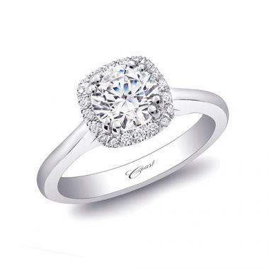 14k White Gold Coast Diamond 0.1ct Diamond Semi-Mount Fishtail Engagement Ring