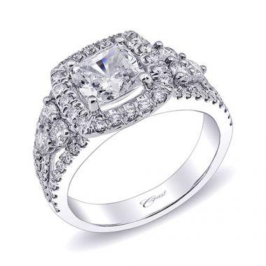 14k White Gold Coast Diamond 0.99ct Diamond Semi-Mount Fishtail Engagement Ring