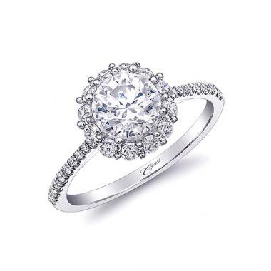 14k White Gold Coast Diamond 0.44ct Diamond Semi-Mount Fishtail Engagement Ring