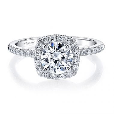 14k White Gold Coast Diamond 0.37ct Diamond Semi-Mount Fishtail Engagement Ring