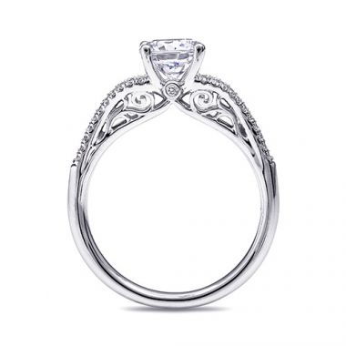 14k White Gold Coast Diamond 0.19ct Diamond Semi-Mount Fishtail Engagement Ring