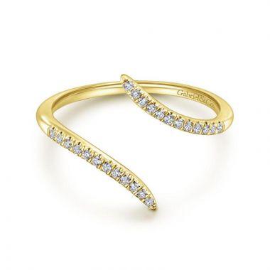Gabriel & Co. 14k Yellow Gold Kaslique Diamond Ring