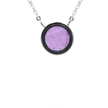 Frederic Duclos  Sterling Silver Amethyst Isabel Necklace