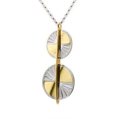 Frederic Duclos  Sterling Silver And Yellow Gold Plated Makayla Necklace