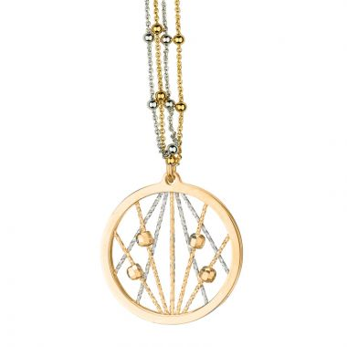 Frederic Duclos  Sterling Silver and Yellow Gold Plated Ophilia Necklace