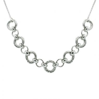 Frederic Duclos  Sterling Silver Tangee Necklace