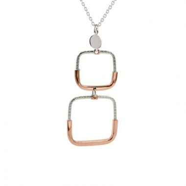 Frederic Duclos  Sterling Silver And Rose Gold Plated Freida Necklace