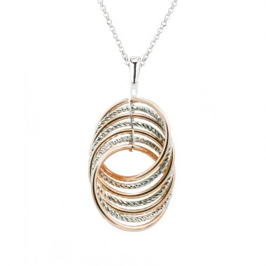 Frederic Duclos  Sterling Silver And Rose Gold Plated Hanna Necklace
