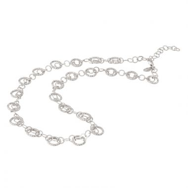 Frederic Duclos  Sterling Silver Circles Galore Necklace
