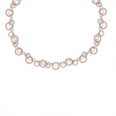 Frederic Duclos  Sterling Silver Rose Finish Circulation Necklace