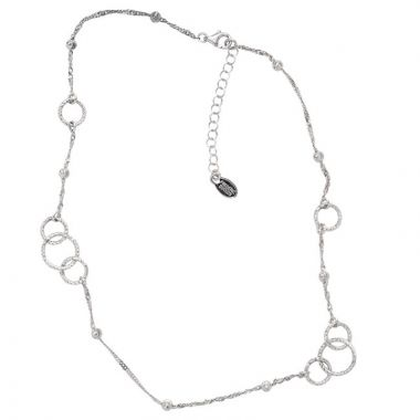 Frederic Duclos  Sterling Silver O-Mazing Necklace