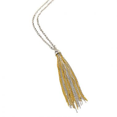 Frederic Duclos  Ss Yellow Gold Plated Tassel Necklace