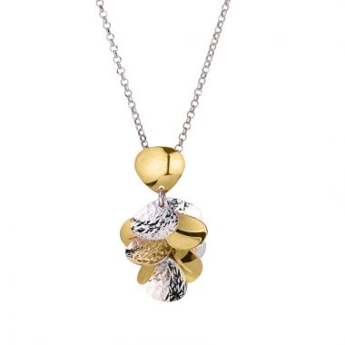 Frederic Duclos  Sterling Silver Yellow Gold Plated Cluster Necklace