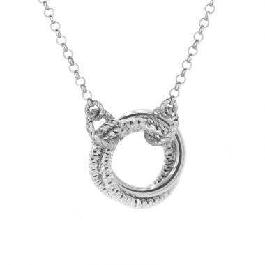 Frederic Duclos  Sterling Silver Single Love Knot Necklace