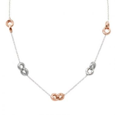 Frederic Duclos  Sterling Silver And Rose Gold Plated Togetherness Necklace