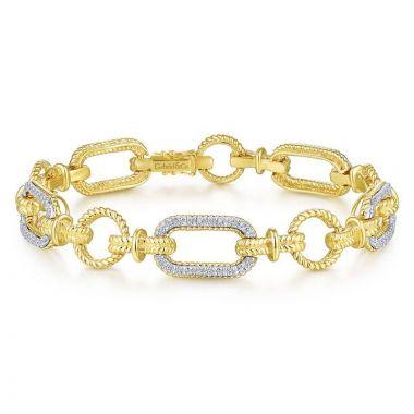 Gabriel & Co. 14k Two Tone Gold Hampton Diamond Tennis Bracelet