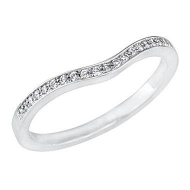 Peter Storm 14k White Gold Diamond Wedding Band