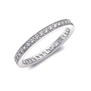 Coast 14k White Gold 0.25ct Diamond Wedding Band