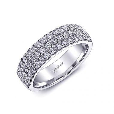 Coast 14k White Gold 0.88ct Diamond Wedding Band