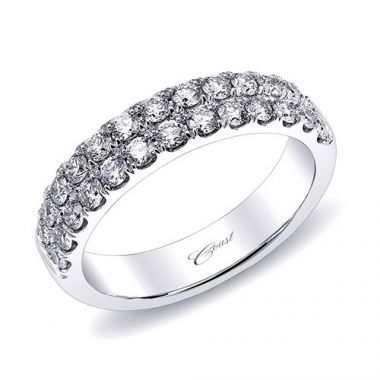 Coast 14k White Gold 0.79ct Diamond Wedding Band