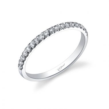 Coast 14k White Gold 0.18ct Diamond Wedding Band
