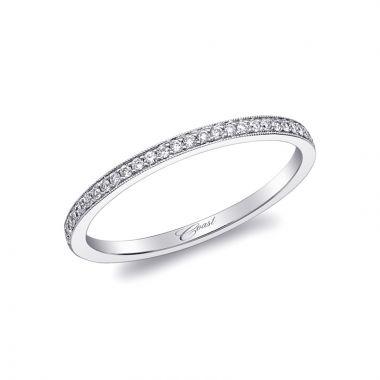 Coast 14k White Gold 0.08ct Diamond Wedding Band