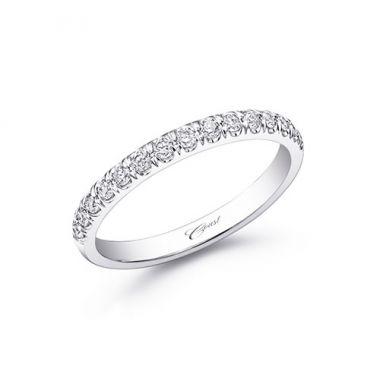 Coast 14k White Gold 0.28ct Diamond Wedding Band