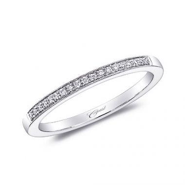 Coast 14k White Gold 0.07ct Diamond Wedding Band