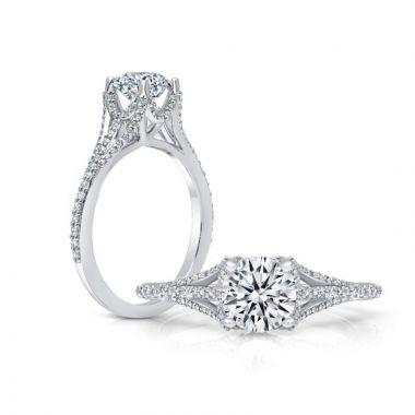 Peter Storm 14k White Gold Straight Diamond Engagement Ring