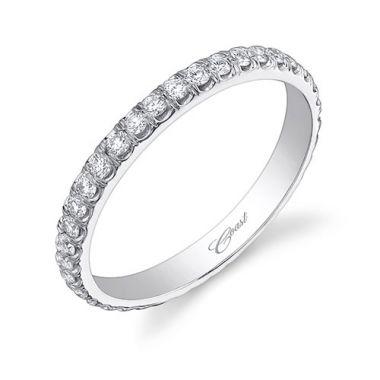 Coast 14k White Gold 0.64ct Diamond Wedding Band