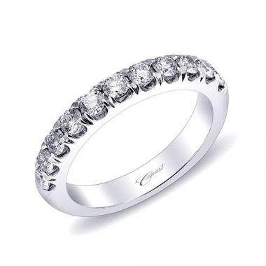 Coast 14k White Gold 0.68ct Diamond Wedding Band